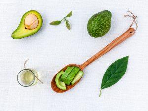 Avokado skåret i stykker